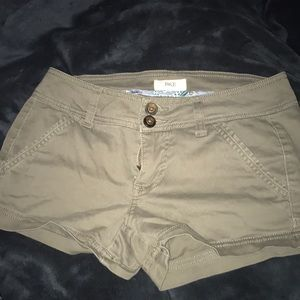 Navy green low rise shorts